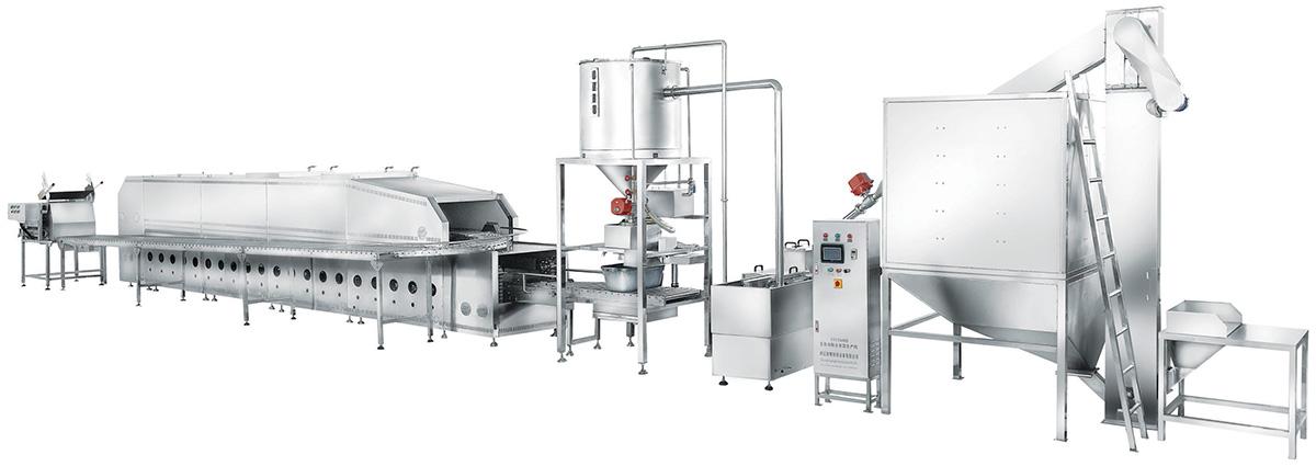 STWMF-600联合自动米饭生产线-燃气型全自动米饭生产线